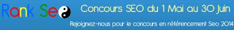 Bannière horizontale du concours SEO 2014 du forum RankSeo.fr